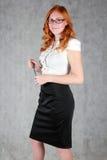 Девушка в офисе Стоковое фото RF