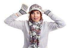 Девушка в одеждах зимы Стоковые Изображения