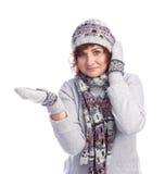 Девушка в одеждах зимы Стоковое Изображение RF