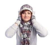 Девушка в одеждах зимы Стоковые Фото