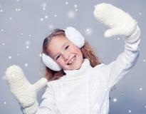 Девушка в одеждах зимы Стоковое Фото