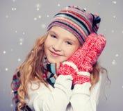 Девушка в одеждах зимы Стоковая Фотография