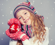 Девушка в одеждах зимы Стоковая Фотография RF