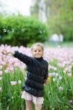 Девушка в парке Стоковые Фото