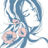 Девушка в пастельных цветах Стоковое Изображение