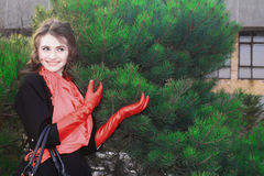 Девушка в пинке Стоковая Фотография RF