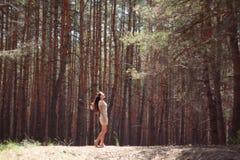 Девушка в пуще Стоковое фото RF