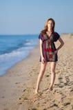 Девушка в платье лета Стоковые Изображения