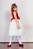 Девушка в платье принцессы красоты Стоковое Изображение