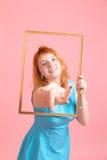 Девушка в рамке Стоковые Фото