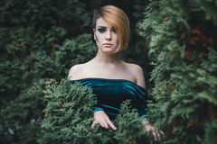 Девушка в древесинах Стоковое фото RF