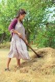 Девушка в ретро платье на природе Стоковая Фотография RF