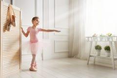 Девушка в розовой балетной пачке стоковые изображения