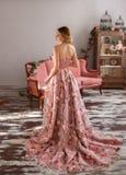 Девушка в роскошном платье Стоковое Изображение RF