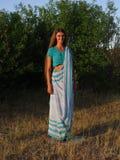Девушка в сари стоковое изображение