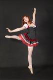 Девушка в скачке балета Стоковое фото RF