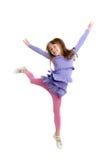 Девушка в скачке Стоковые Фото
