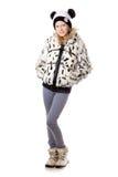 Девушка в смешной одежде зимы Стоковое Изображение RF
