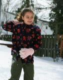 Девушка в снеге стоковые фото