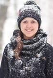 Девушка в снежке Стоковое Фото
