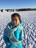 Девушка в снежке стоковая фотография