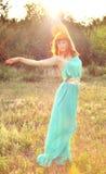 Девушка в солнце Стоковое Изображение RF