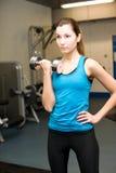 Девушка в спортзале Стоковая Фотография
