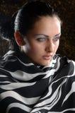 Девушка в стекле Стоковые Фото