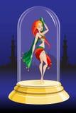 Девушка в стеклянном шаре Стоковое Изображение RF