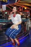 Девушка в стиле 60s Стоковое фото RF