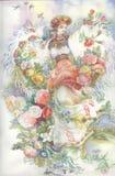 Девушка в традиционном costume. Gutsulka. иллюстрация вектора