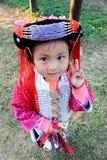 Девушка в традиционном платье в северном Таиланде Стоковые Изображения RF