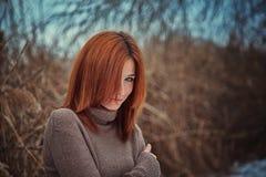 Девушка в тростниках Стоковое Изображение RF