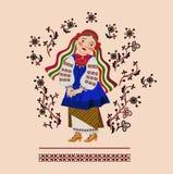 Девушка в украинском костюме стоковые изображения rf