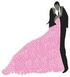 Девушка в флористической юбке Стоковые Изображения RF