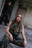Девушка в форме стоковая фотография rf