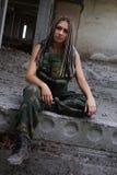 Девушка в форме стоковые фотографии rf