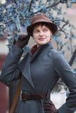Девушка в шлеме Стоковое Изображение RF