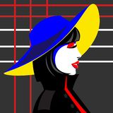 Девушка в шляпе в стиле искусства шипучки смогите конструктор каждый вектор оригиналов предмета evgeniy графиков независимый kote бесплатная иллюстрация