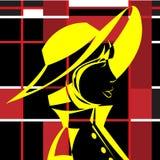 Девушка в шляпе в стиле искусства шипучки смогите конструктор каждый вектор оригиналов предмета evgeniy графиков независимый kote иллюстрация вектора
