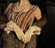 Девушка в элегантном платье стоковые изображения