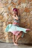 Девушка в этнической одежде Стоковая Фотография