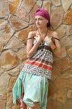 Девушка в этнической одежде Стоковое Фото