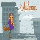 Девушка в ярких одеждах бесплатная иллюстрация