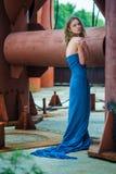 Девушка в blue2 стоковые изображения