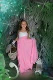 Девушка в fairy лесе Стоковое Изображение