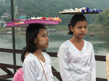 Девушка в sangkhla, Таиланде Стоковая Фотография RF