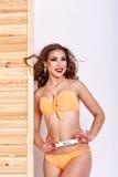 Девушка в swimsuit смогите стоковые фотографии rf