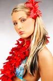 девушка Гавайские островы Стоковое фото RF