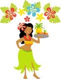 Девушка Гавайских островов Luau иллюстрация штока